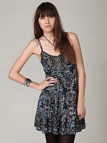 Holiday Tiered Jewel Dress