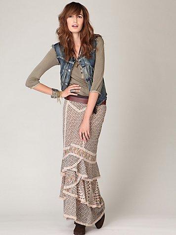 Double Print Maxi Skirt