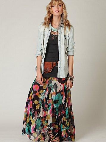 FP ONE Desert Florals Maxi Skirt