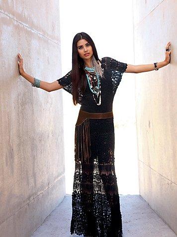 Hand Crochet Maxi Dress