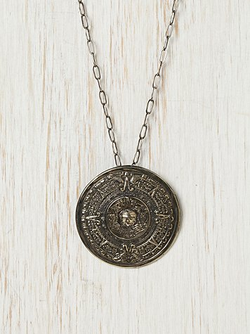 Mayan Medallion Necklace