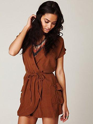 Seneca Solid Wrap Dress