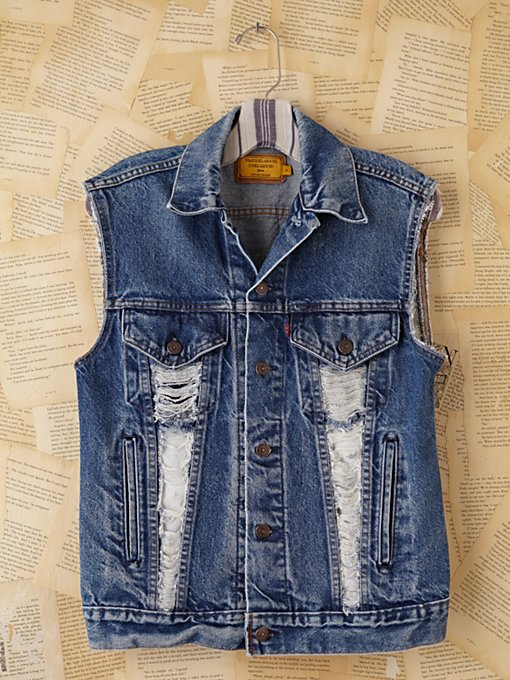 Vintage Custom Denim Vests