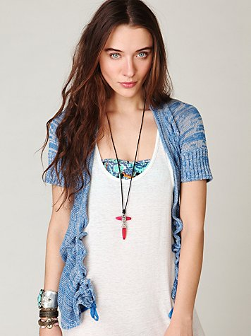 Short Sleeve Scrunch Cardigan