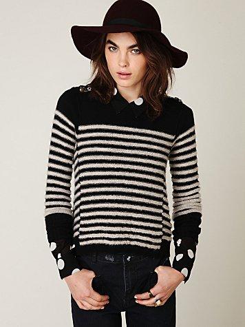 Shrunken Stripe Pullover