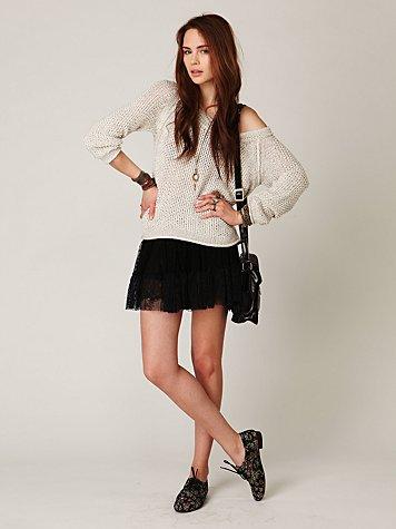 Mesh & Tiers Skirt