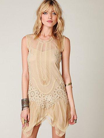 Lace Dropwaist Dress