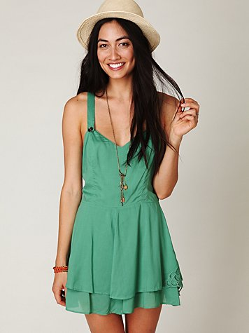 Summer Day Solid Romper