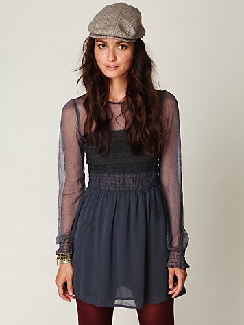 Vintage Lace Long Sleeve Dress