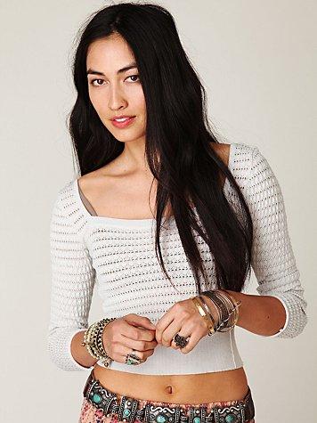 Cropped VNeck Pullover