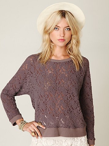 All Over Lace Pullover
