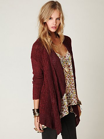 Cable Swing Cardigan