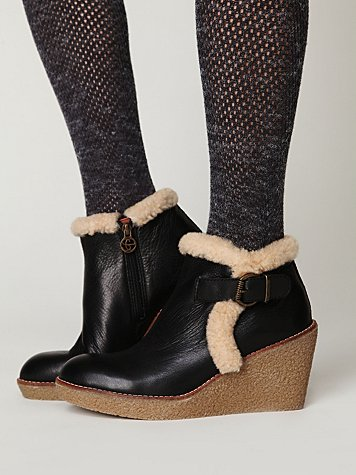 Tumbled Wedge Ankle Boot