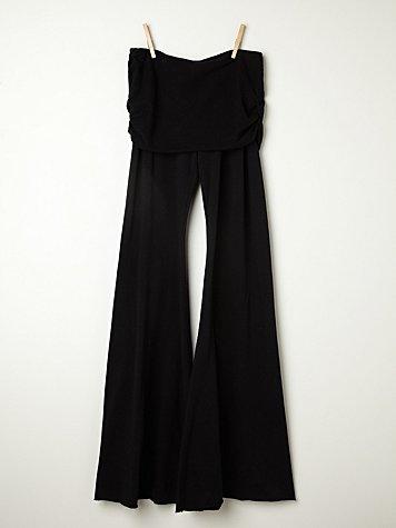 Fleece Flare Foldover Pant