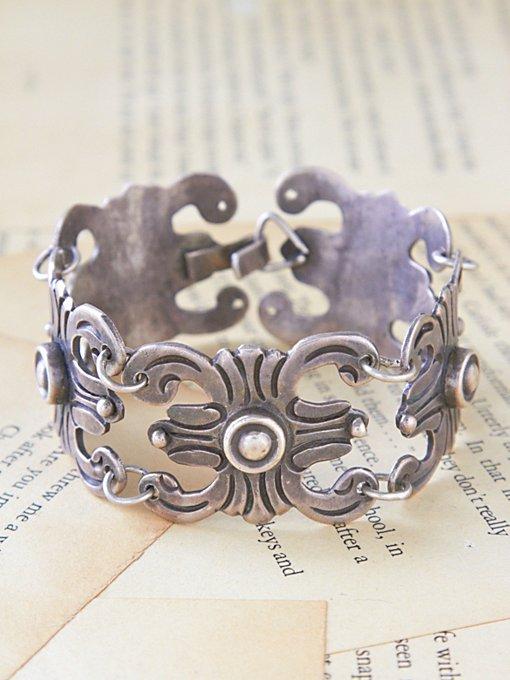 Vintage Silver Linked Bracelet