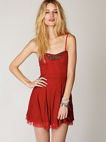 Scallop Strapless Dress