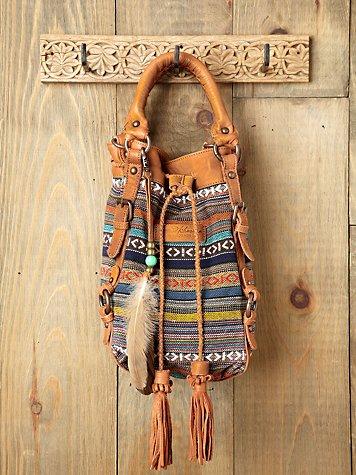 Jacquard Bucket Bag
