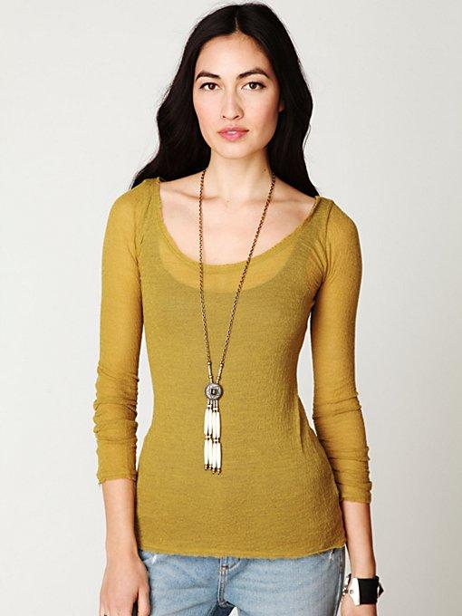 Gauzy Knit Long Sleeve Top
