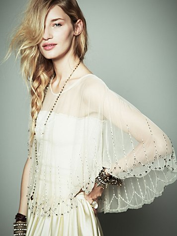 Image of Me Mesh Sequin Capelet