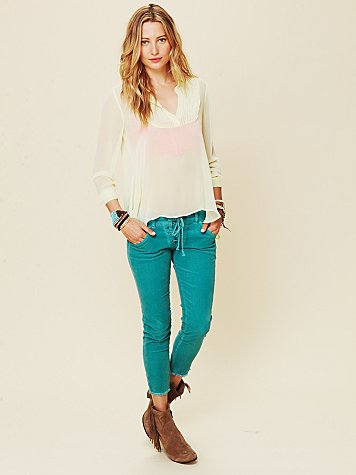 Lace Up Cord Skinny