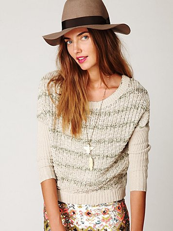 Slubby Stripe Pullover