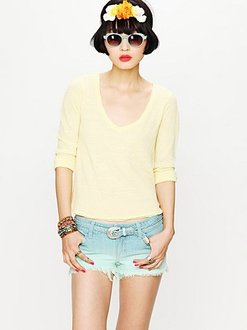 Ombre Cut Off Shorts
