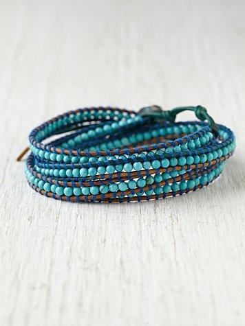 Harper Contrast Stitch Wrap Bracelet