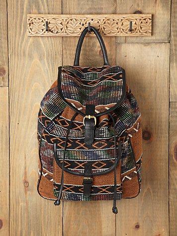 Sari Pattern Backpack