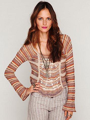 Open Stitch Multicolor Pullover