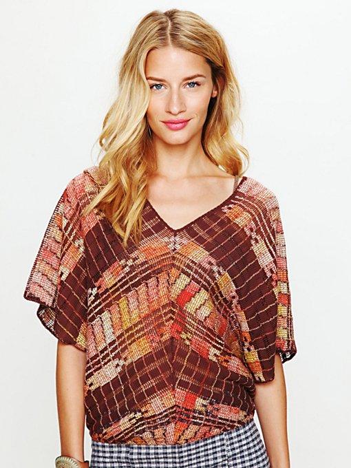 Colorblock Short Sleeve Sweater