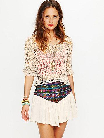 Guipil Asteria Mini Skirt