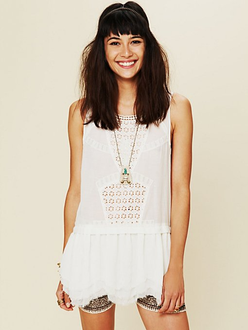 Sleeveless Eyelet Tunic