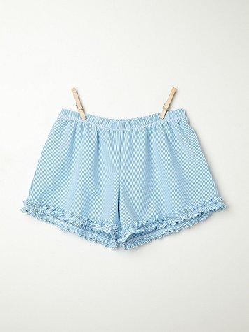 Seersucker Sleep Shorts