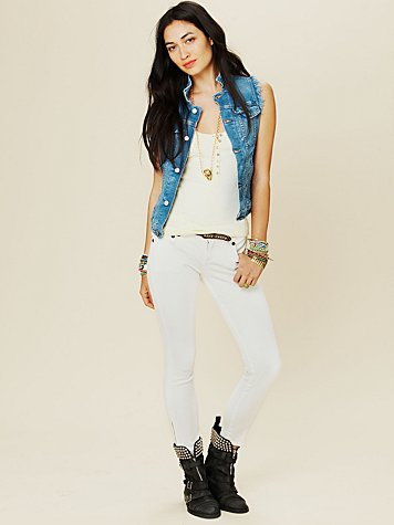 Ankle Crop Skinny with Zippers