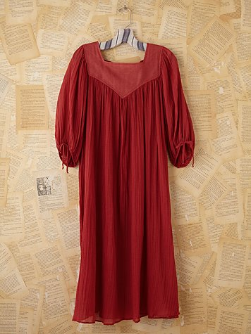 Vintage Coral Pleated Dress