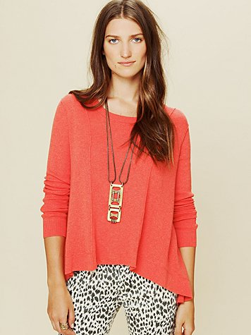 Long Sleeve Boxy Lace Back Pullover