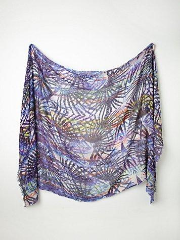 Printed Silk Wool Scarf