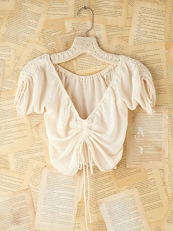 Vintage Gauzy Cotton Crop Top