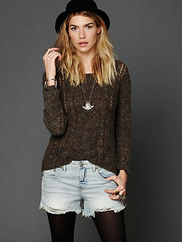 Marled Cables Pullover