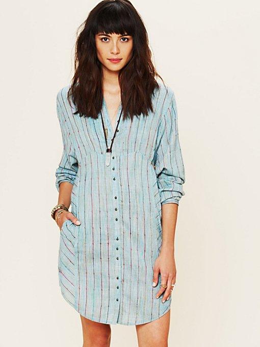 FP New Romantics Indigo Shades Shirt Dress
