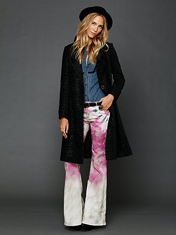 Long Winter Embroidered Coat