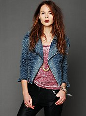 We The Free Denim Motorcycle Jacket