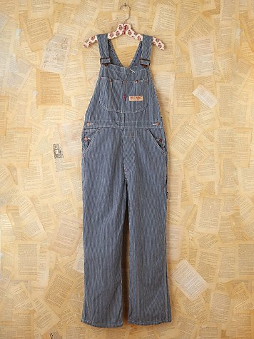 Vintage Big Mac Striped Denim Overalls