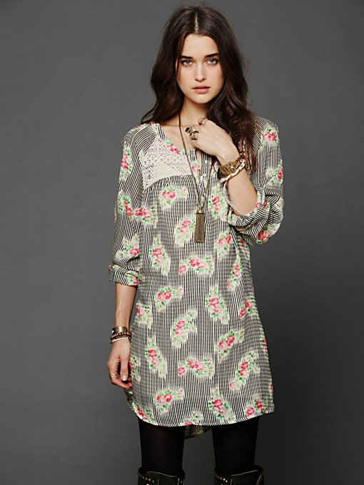Abbey Printed Shirt Dress