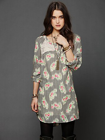 Abbey Printed Shirt Dress