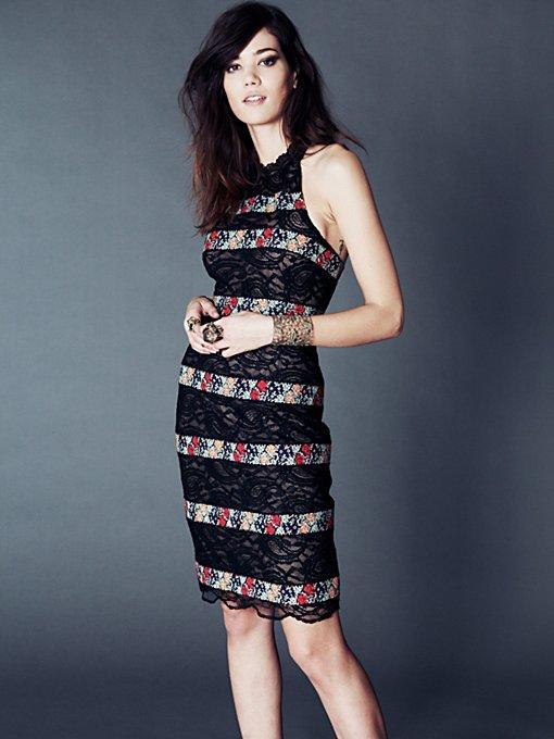 Cross Stitch Lace Column Dress