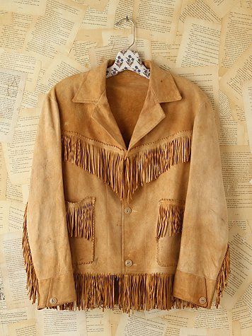 Vintage Suede Fringe Jacket