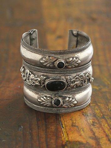 Vintage Texturized Silver Cuff