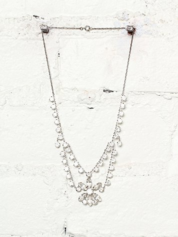 Vintage Crystal Stone Embellished Necklace