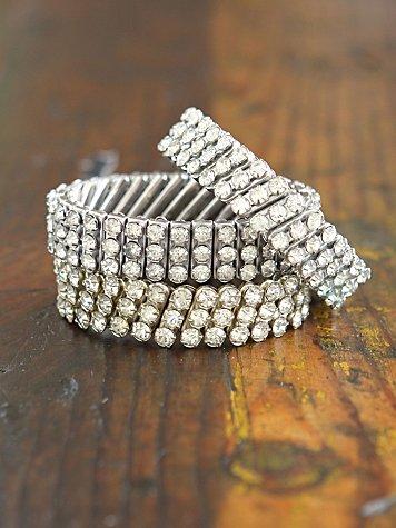 Vintage Stretch Crystal Stone Bracelet